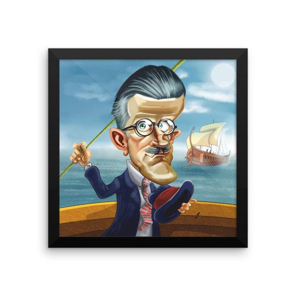 James Joyce Framed poster