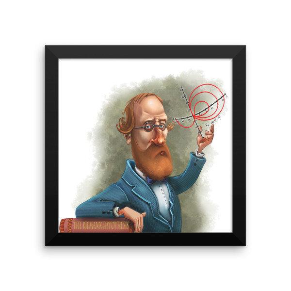 Bernhard Riemann Framed poster