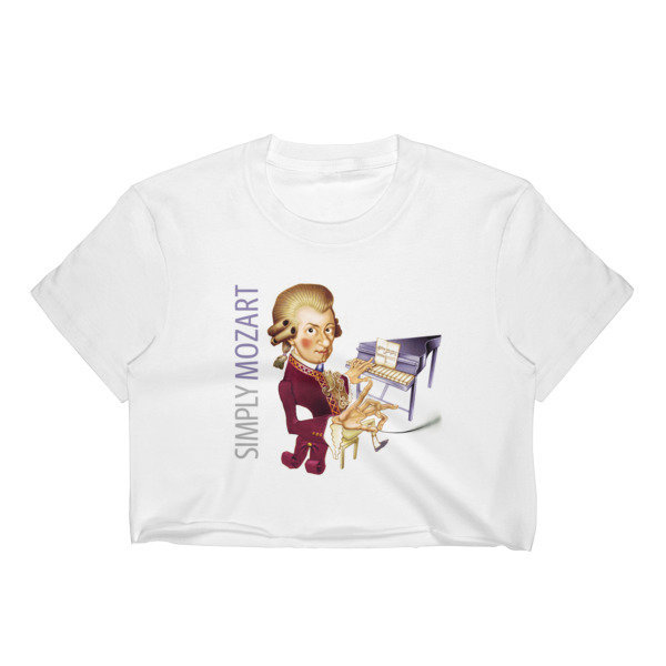 Simply Mozart Women's Crop Top