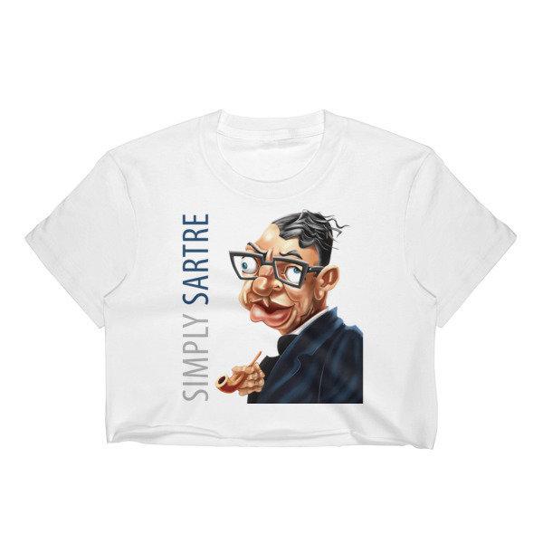 Simply Sartre Women's Crop Top