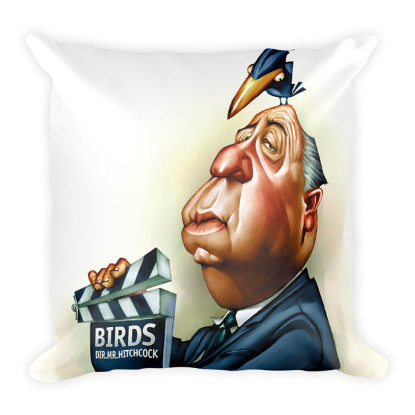Alfred Hitchcock Square Pillow