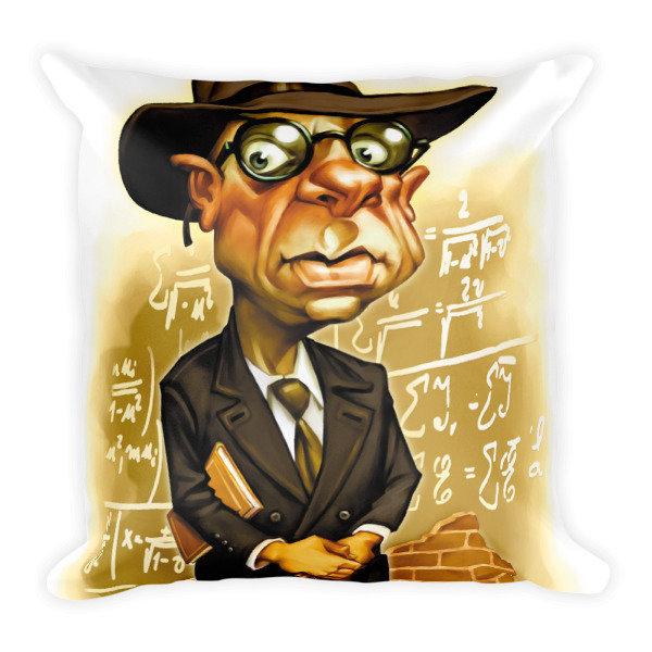 Kurt Gödel Square Pillow