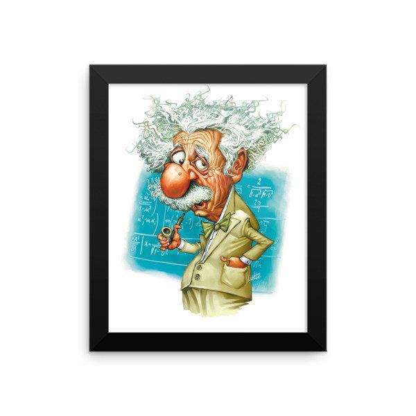 Albert Einstein Framed poster