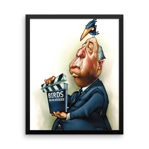 Alfred Hitchcock Framed poster