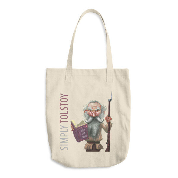 Simply Tolstoy Cotton Tote Bag