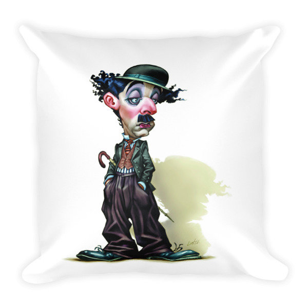 Charlie Chaplin Square Pillow