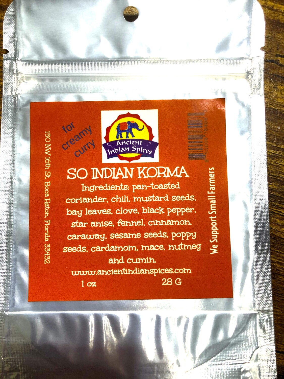 SOUTH INDIAN KORMA SPICES, 2 OZ.