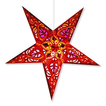 Brilliant Artisan Handmade Paper Star Hanging Lights w/lamp cord