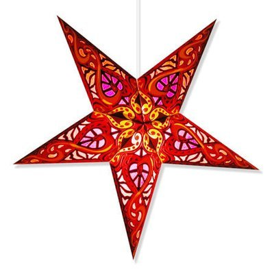 Brilliant Artisan Handmade Paper Star Hanging Lights w/lamp cord