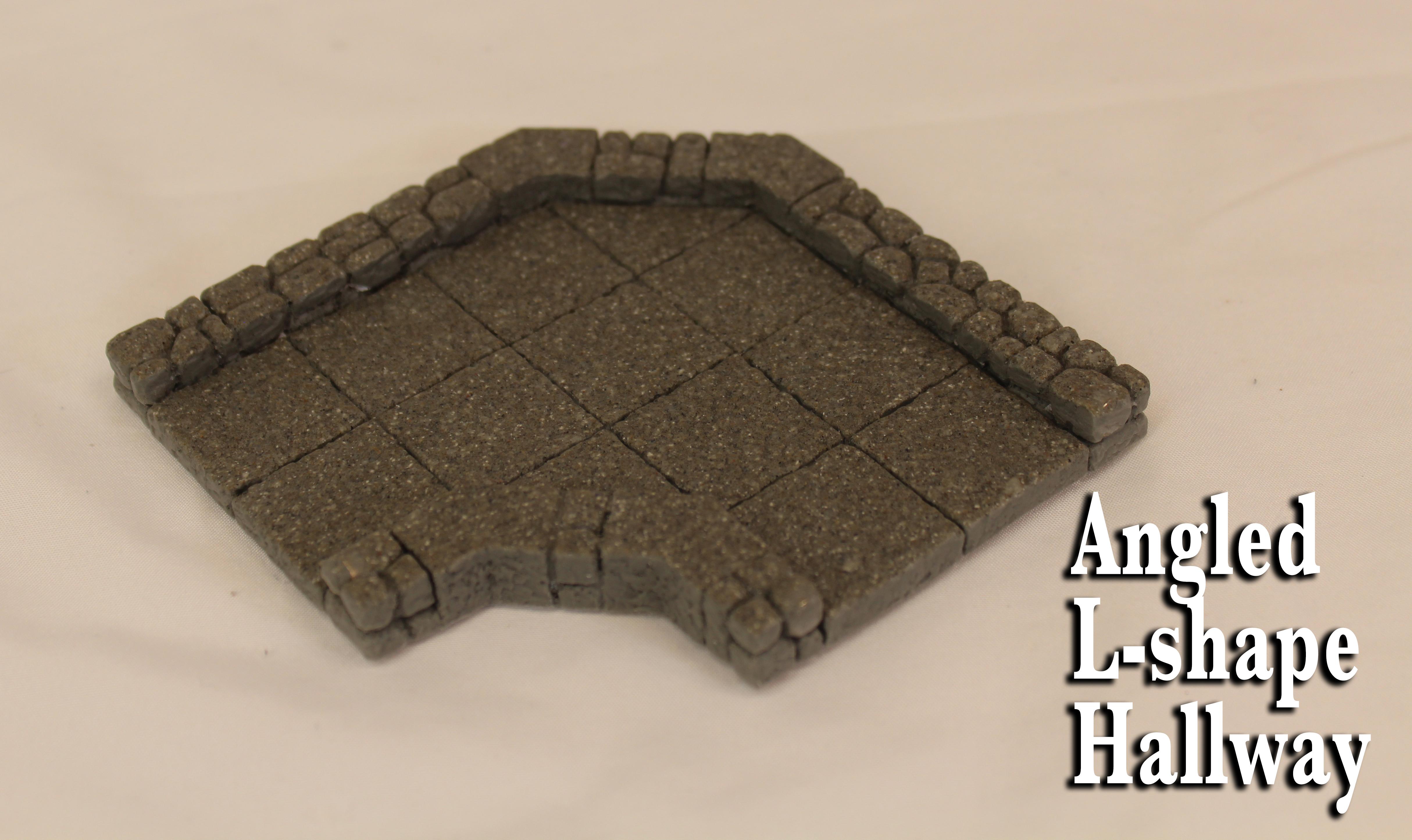 Angled L-shape Hallway 00013
