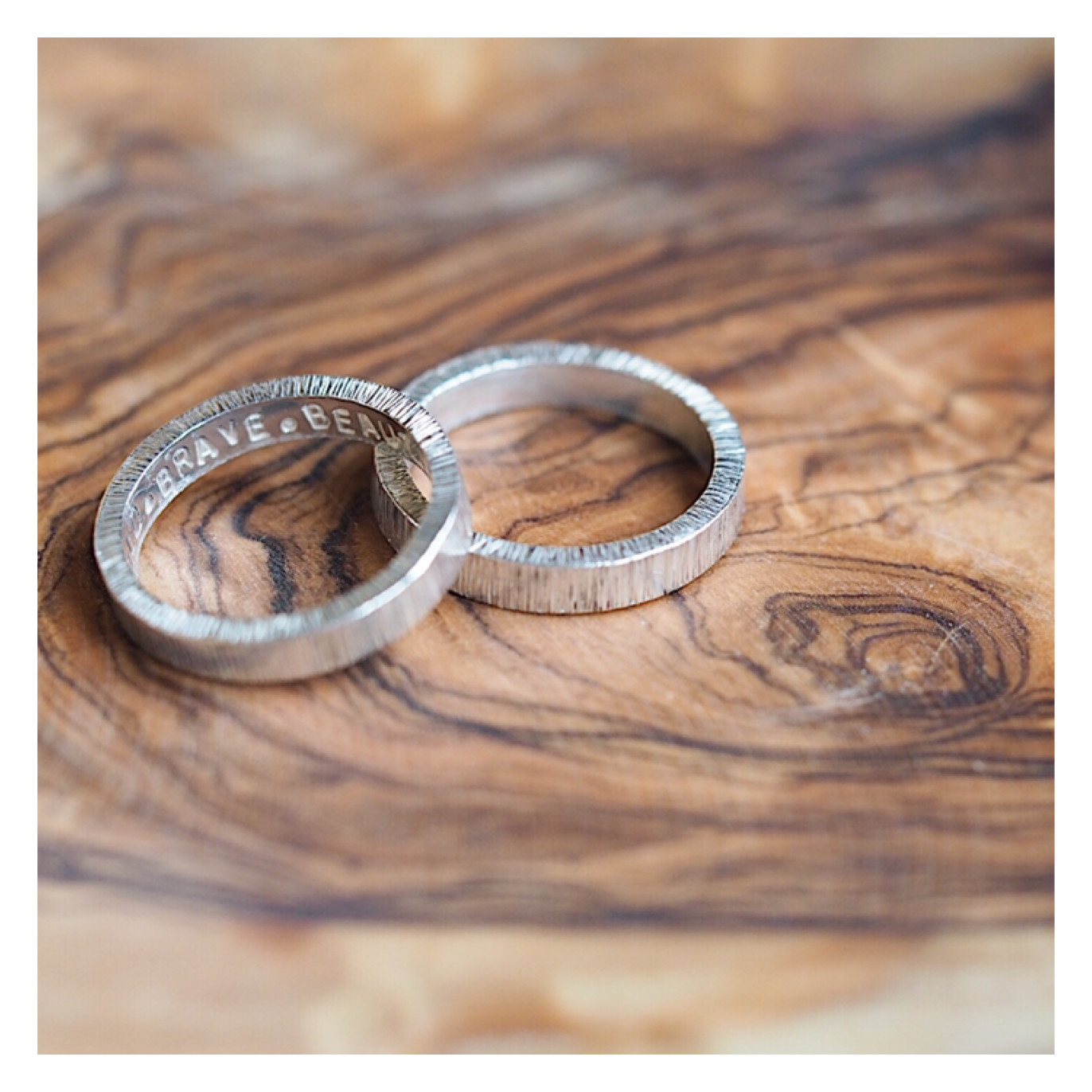 Sterling Silver 3.6mm Textured Band