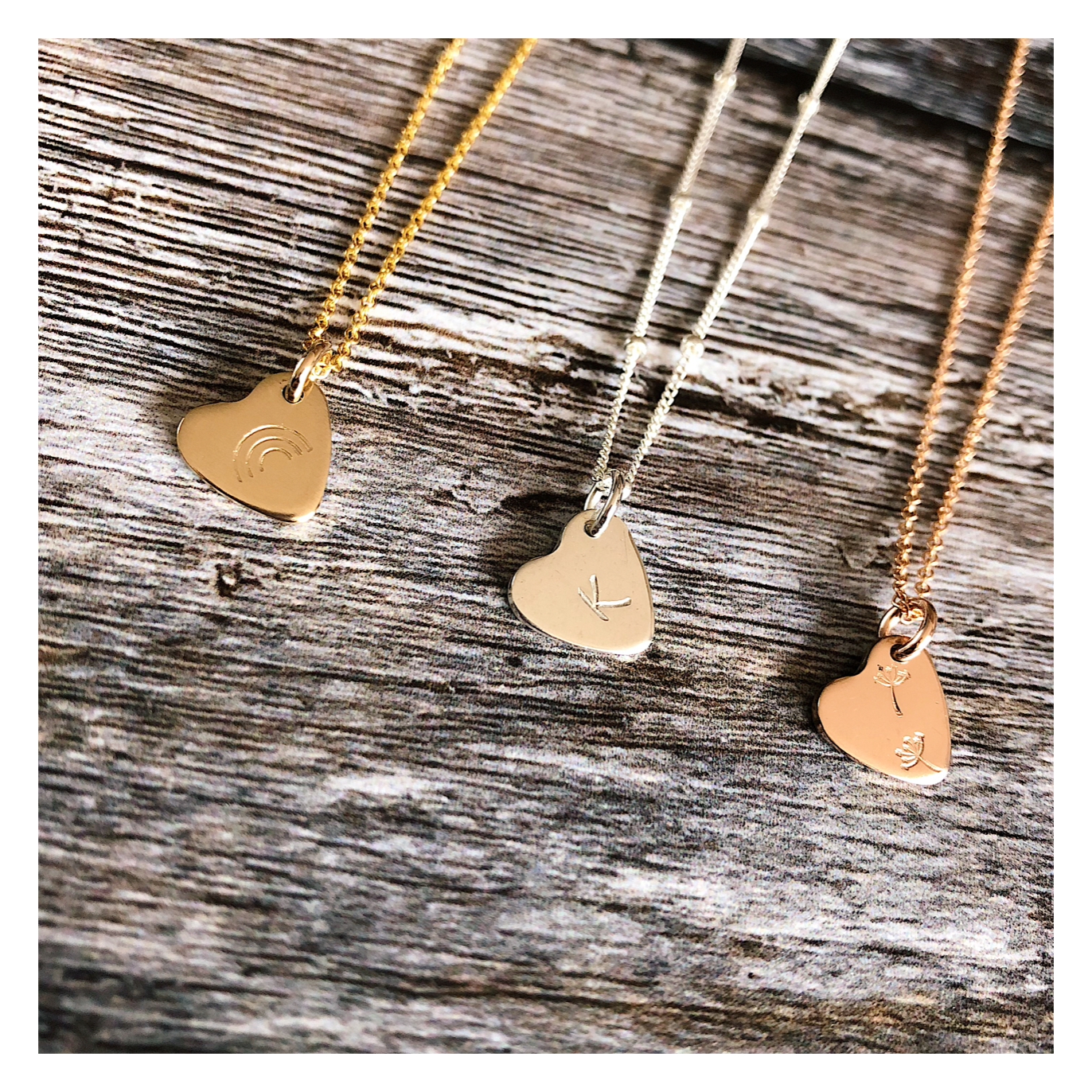 Design Your Own Necklace - HEARTS