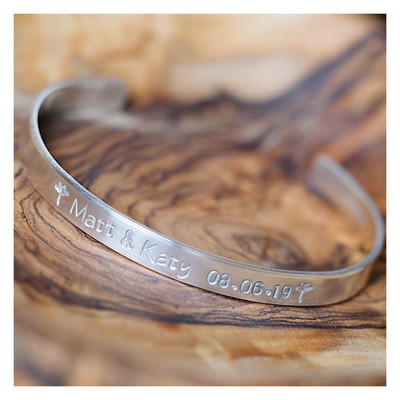Personalised Sterling Silver Luxury Bangle 6mm