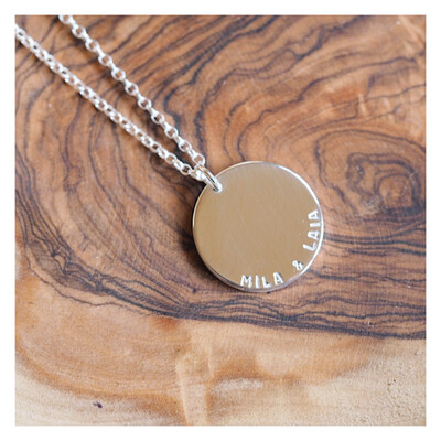 MAXI Sterling Silver Disc Necklace