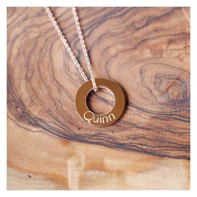 MIDI 14k Rose Gold Washer Necklace