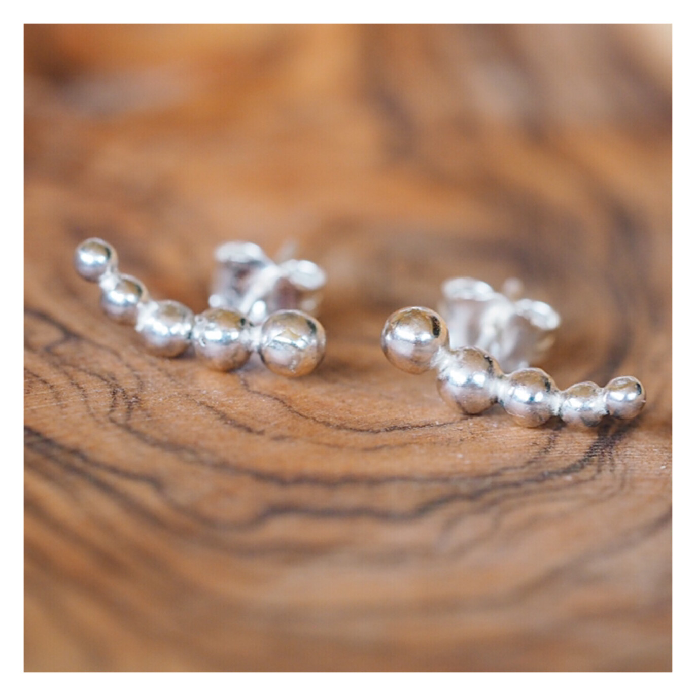 Sterling Silver Bobble Creeper Earrings