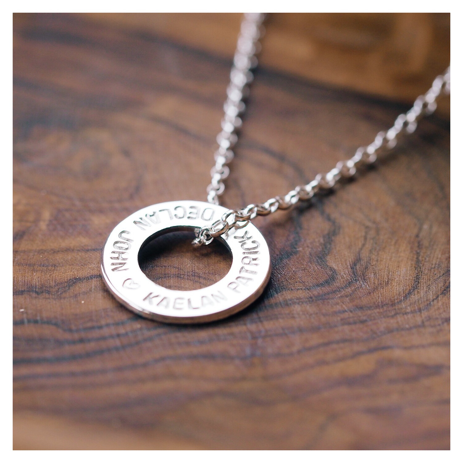 Design Your Own Personalised Necklace - MIDI WASHERS