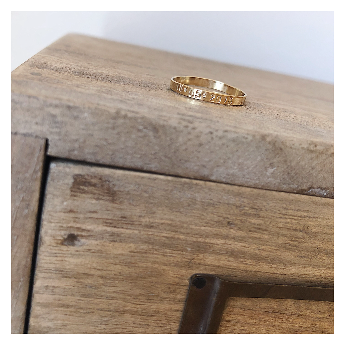Personalised 14k Gold Filled Stacking Ring - Size H, J, L, N, P GFRING