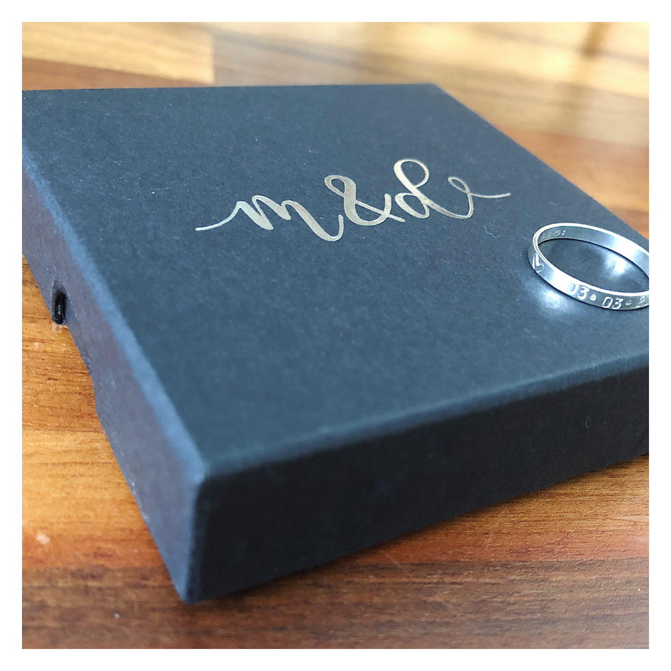 Personalised Sterling Silver Stacking Ring - Size H, J, L, N, P SILRING