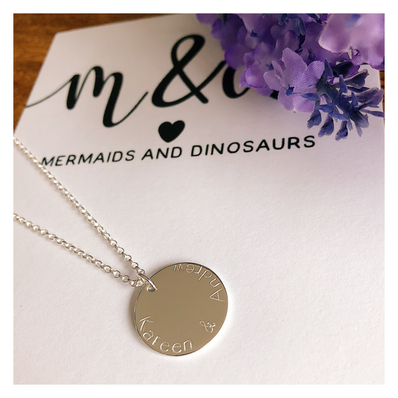 MAXI Sterling Silver Disc Necklace MAXDISCNECK