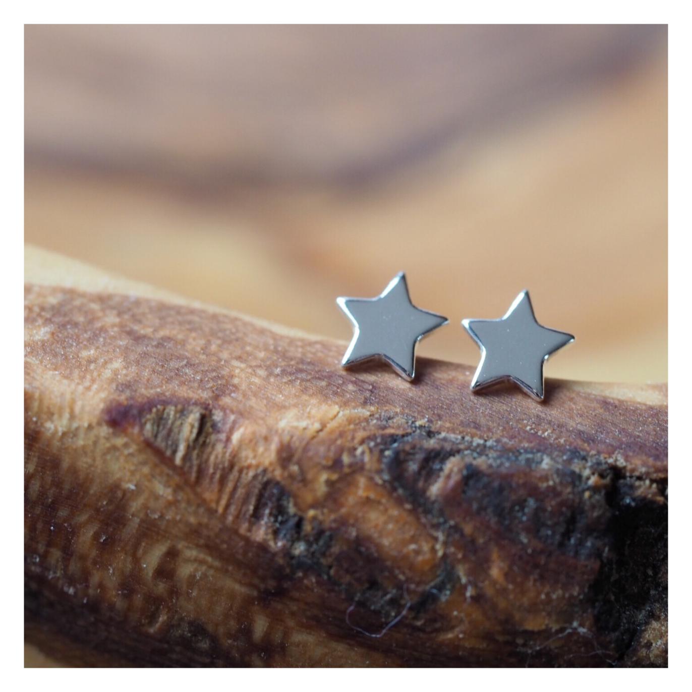 Sterling Silver Star Earrings STAREAR