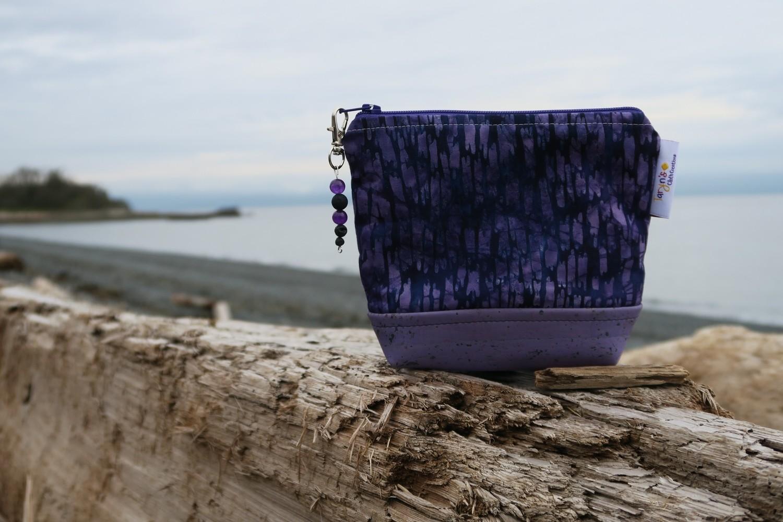 Small Carry Case -Purple Batik