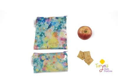 Reusable Snack and Sandwich Bag Set -Kaleidescope