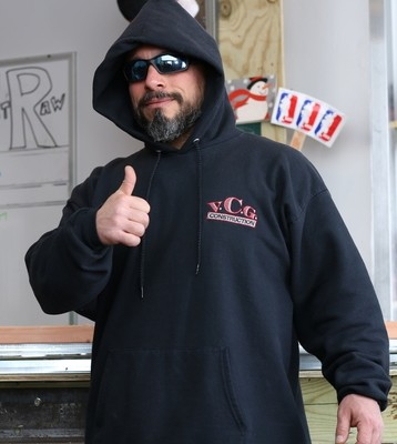 VCG Construction Logo Embroidered Black Hoodie