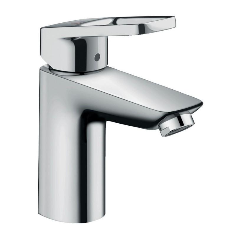 Mitigeur de lavabo Hansgrohe Loop 100 CoolStart en laiton chromé avec tirette et vidage