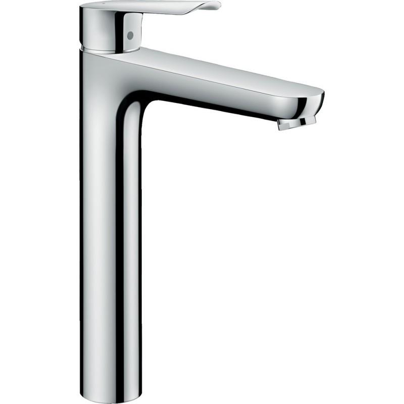Mitigeur de lavabo Hansgrohe Logis E 230 en laiton chromé avec tirette et vidage