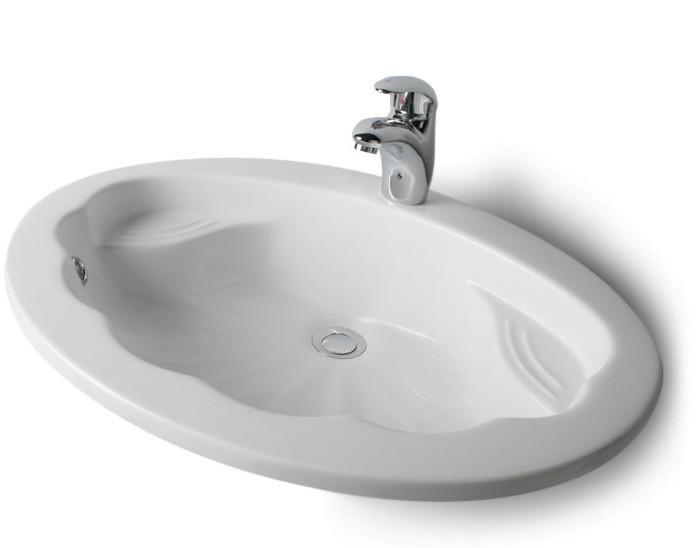 Vasque encastrable Coquille moulé en poudre de marbre