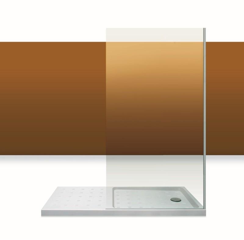 Paroi de douche Innovativ en verre trempé d'épaisseur 8 mm avec profilé inox chromé