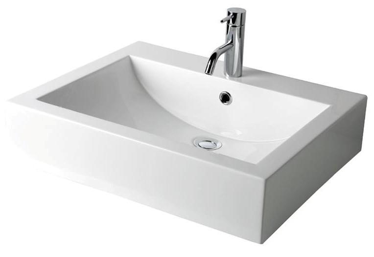 Vasque à poser Swing 58 cm moulé en poudre de marbre