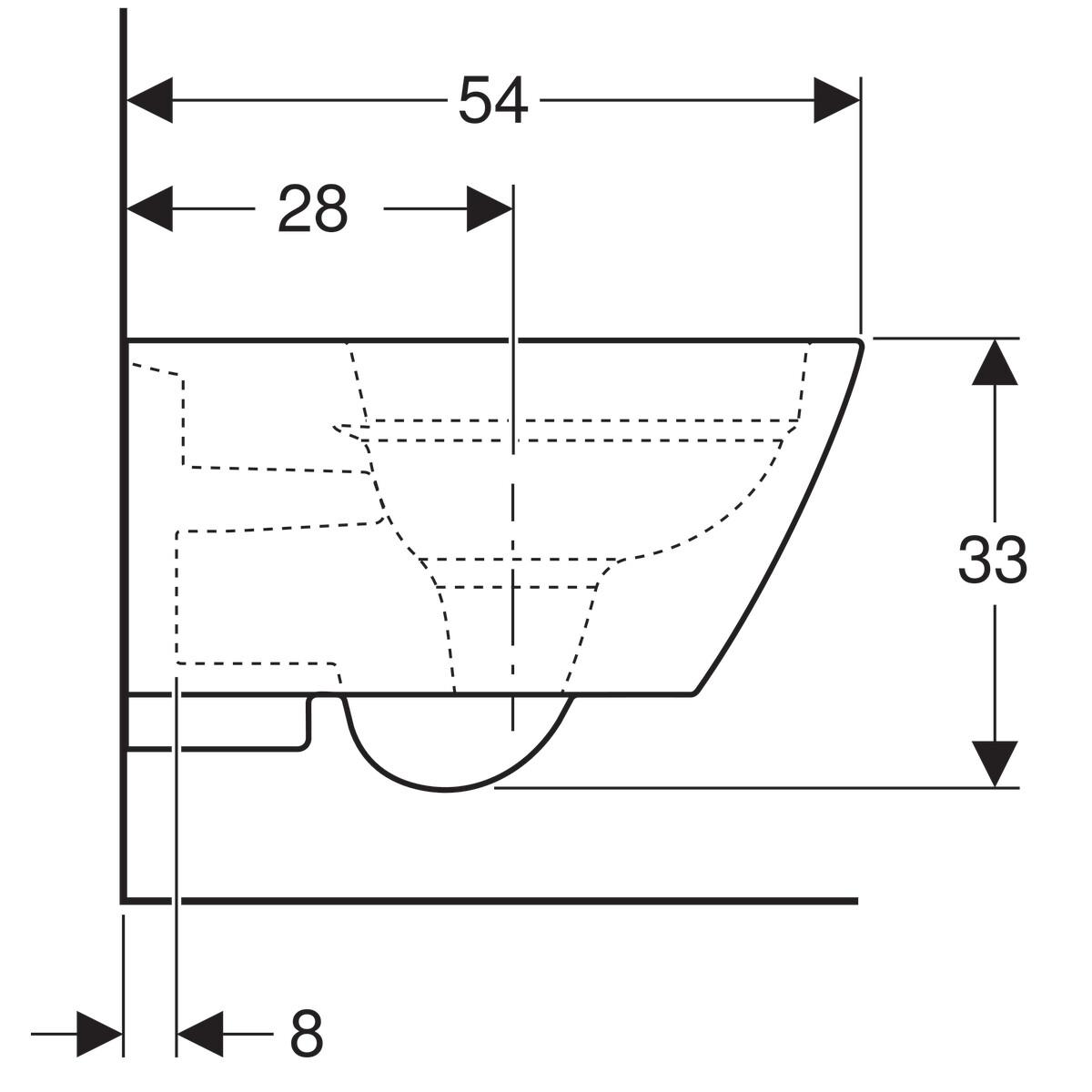 Largeur Wc Suspendu Geberit cuvette suspendue geberit smyle square caréné rimfree avec