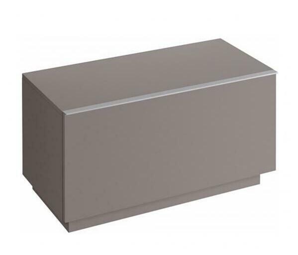 Armoire latérale Keramag iCon 89 cm en platine laqué ultra-brillant