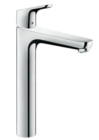 Mitigeur de lavabo Hansgrohe Focus 230 Ecosmart en laiton chromé avec tirette et vidage