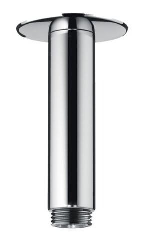 Bras de douche chromé avec rosace ronde Hansgrohe