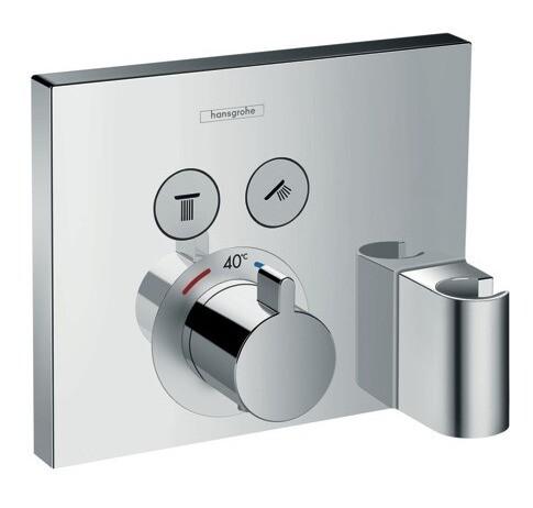 Set de finition pour mitigeur thermostatique encastré ShowerSelect avec 2 fonctions, fixfit et porter