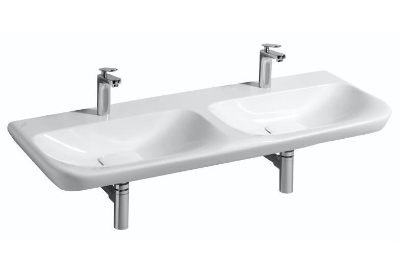 Plan-vasque double Geberit myDay 130 cm