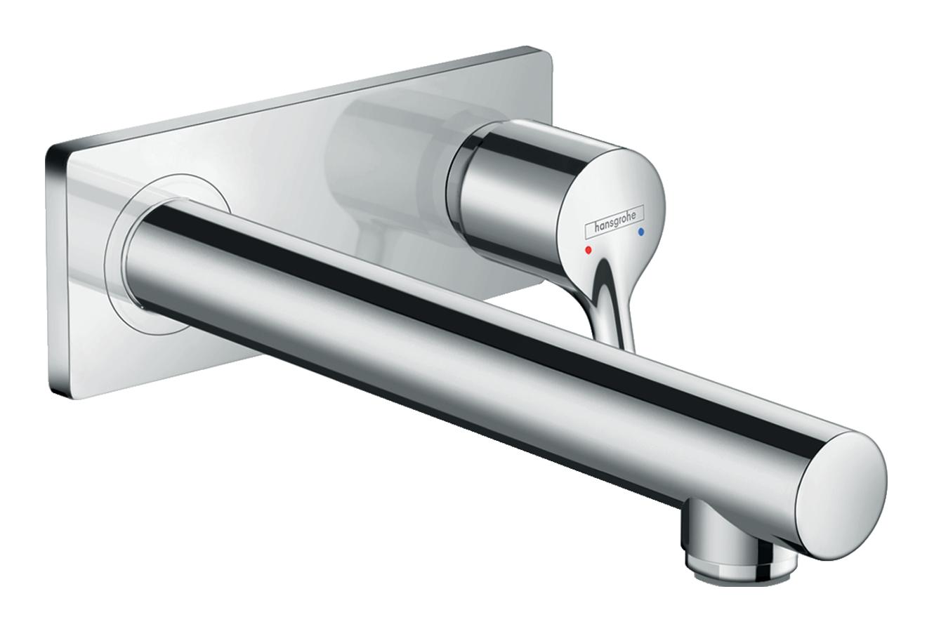 Mitigeur de lavabo encastré Hansgrohe Talis S avec bec de 225 mm en laiton chromé