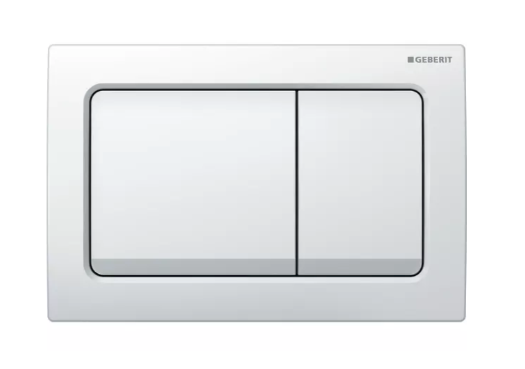 Plaque de déclenchement Alpha30 / Blanc