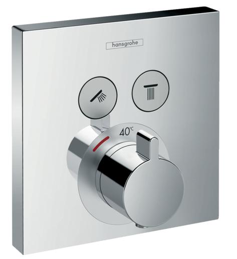 Set de finition pour mitigeur thermostatique encastré ShowerSelect avec 2 fonctions