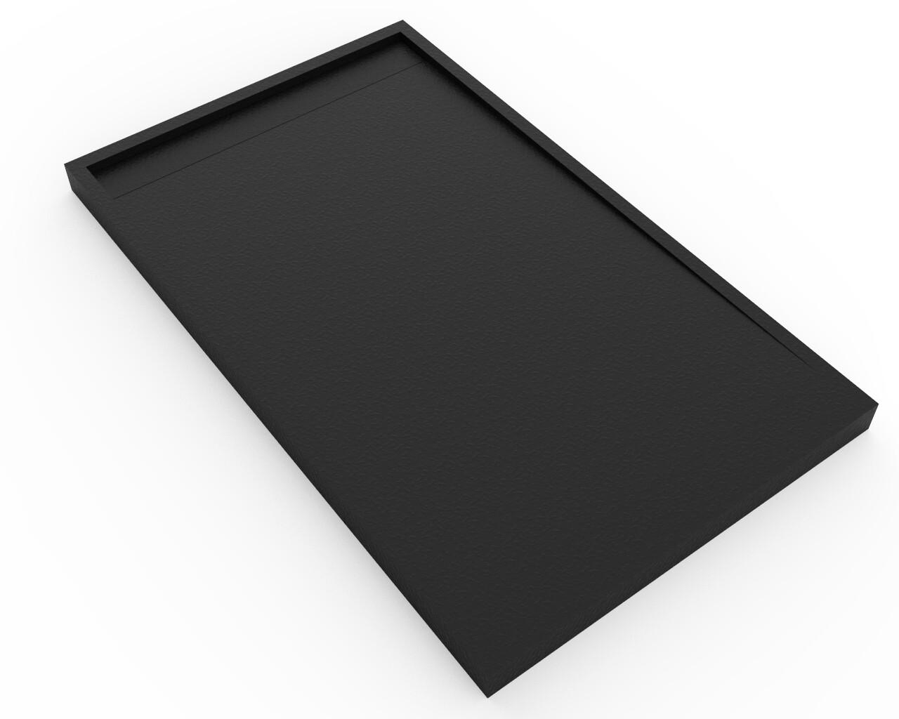Receveur de douche rectangulaire Galaxite extra-plat  et anti-dérapant (150 à 180) x 80 cm avec grille design en résine et siphon