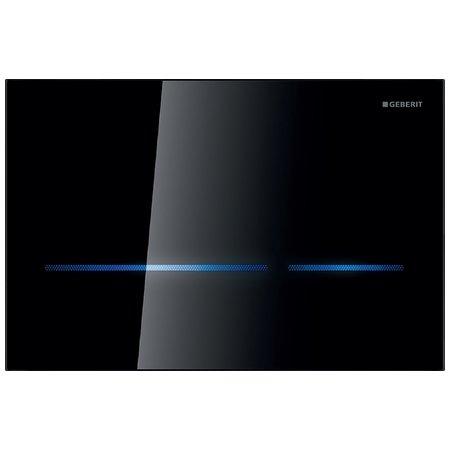 Plaque de déclenchement infrarouge Geberit Sigma80 / Verre noir