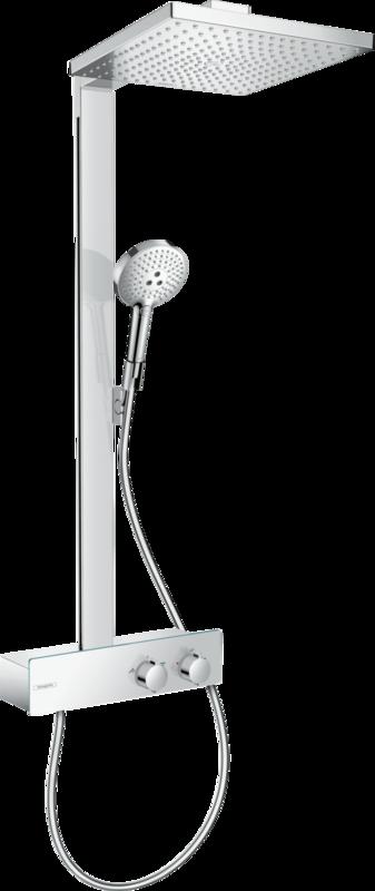Colonne de douche Showerpipe Hansgrohe Raindance E 300 1 jet EcoSmart avec mitigeur thermostatique ShowerTablet 350