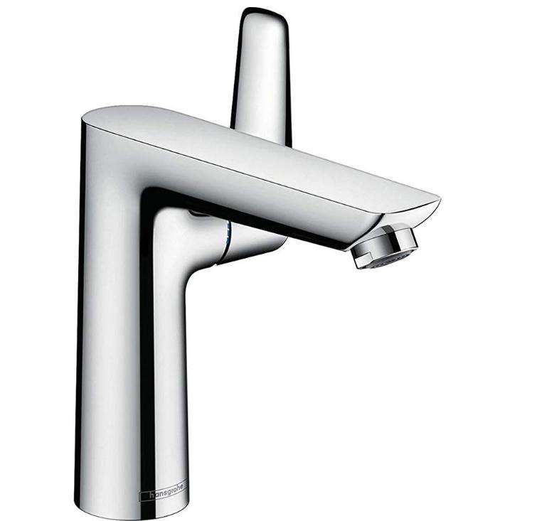 Mitigeur de lavabo Hansgrohe Talis E 150 en laiton chromé avec tirette et vidage
