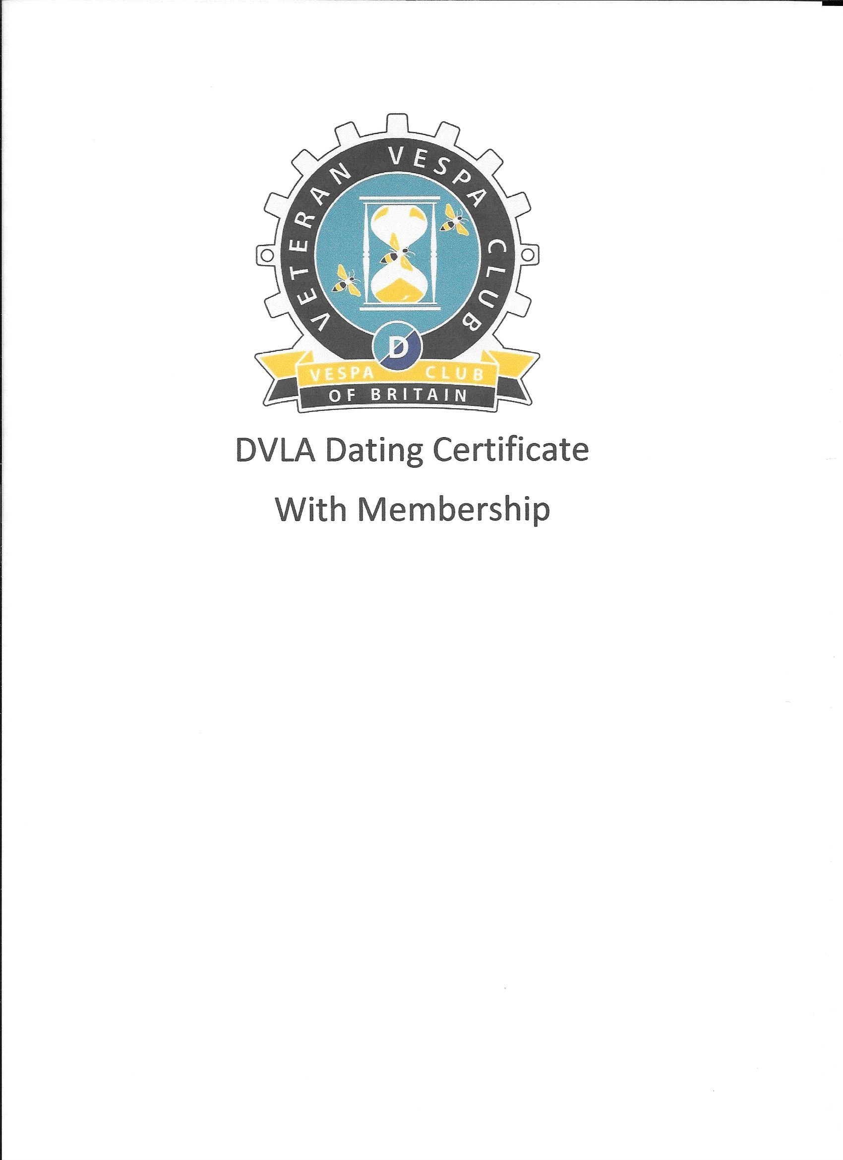 VVC Dating Certificate (When joining VVC at the same time) 00021