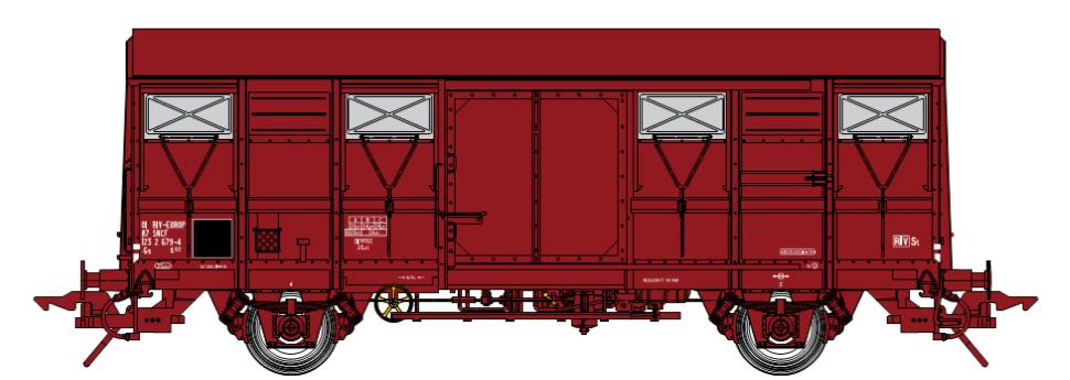 SNCF Gs4-02 Wagon couvert (1968-1980)  - Covered Van - Gedeckte Güterwagen ep. 4-5