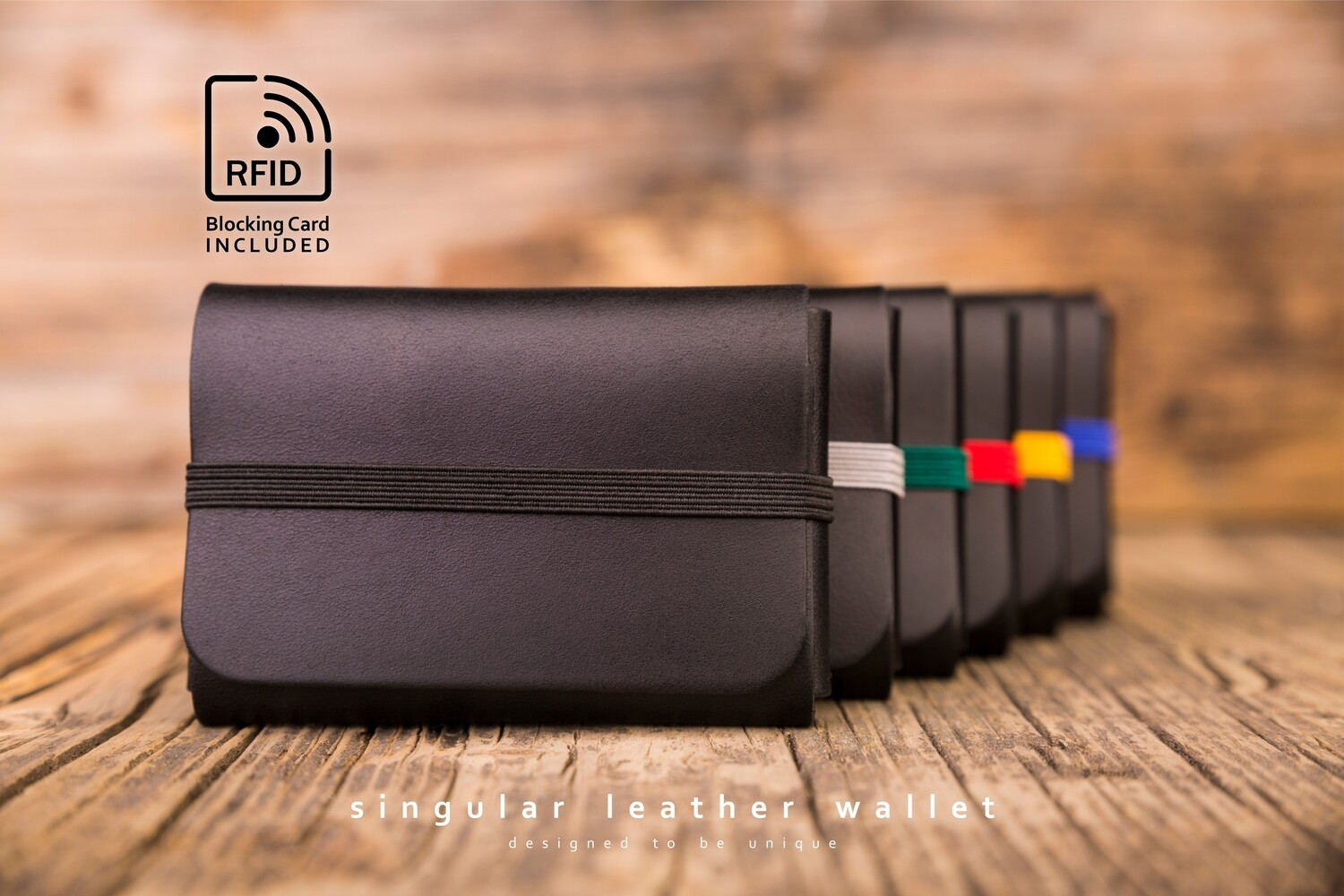 SINGULAR LEATHER™ Wallet - color: BLACK
