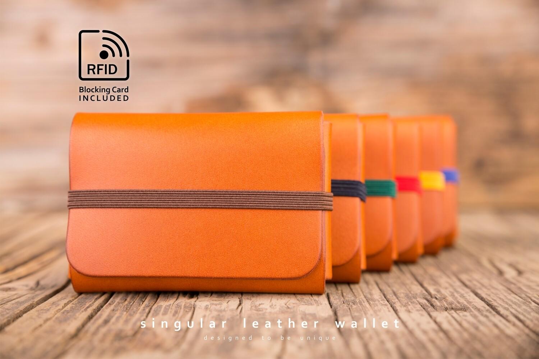 SINGULAR LEATHER™ Wallet - color: TAN